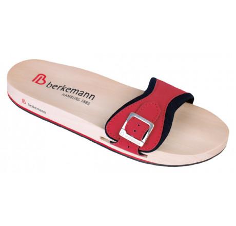 0121-206 Berkemann Berkilette Holz Sandale rot/schwarz Größe 1 - 13