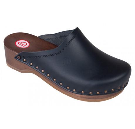 0407-900 Berkemann Natur Toeffler Holz Sandale schwarz Größe 2,5 - 13