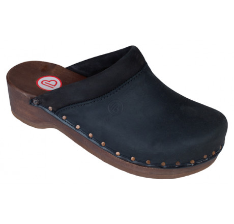 0412-031 BERKEMANN Soft-Toeffler Holz Sandale schwarz Größe 2,5 - 12