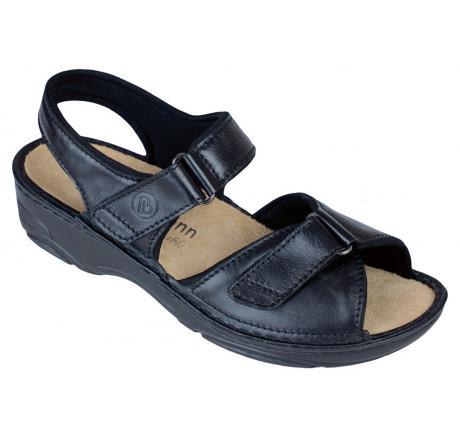 3415-938 Berkemann Berkoflex  Fabienne Damen Sandale schwarz Größe 3 - 8,5