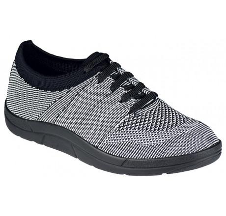 5450-997 Berkemann ComfortKnit Allegra Schuh schwarz/weiß Größe 3 - 8,5