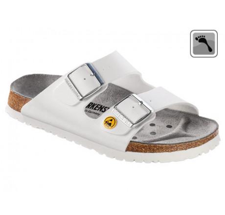089418 Klein BIRKENSTOCK ESD ARIZONA Sandale schmale Weite weiß Größe 35 - 46