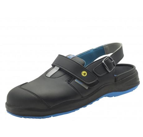 2.4004.02.94 SCHÜRR Aachen Arbeitsschuhe Sandale mit Alukappe ESD schwarz S1 Größe 36 - 48