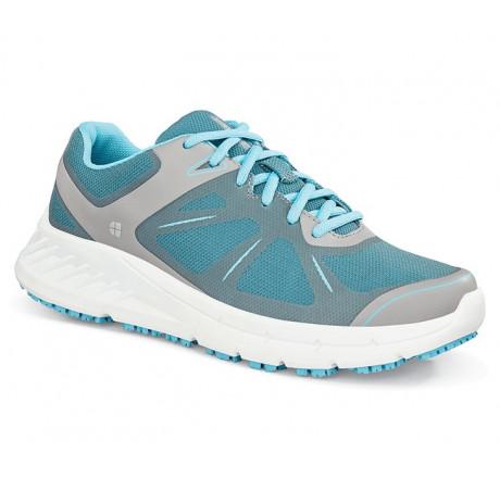 24759 Shoes for Crews >Damen-Schnürschuhe Vitality ohne Stahlkappe grau/blau Größe 35 - 42