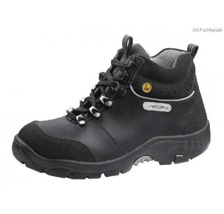 32168 Übergröße ABEBA-ESD, Anatom-Stiefel, schwarz, mit Stahlkappe, Leder Größe 49 - 50