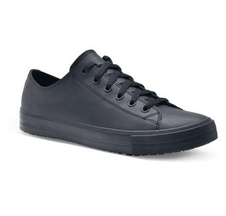 "32394 Shoes for Crews Damen Sneaker ""Delray"" Leder ohne Schutzkappe schwarz  Größe 35 - 43"