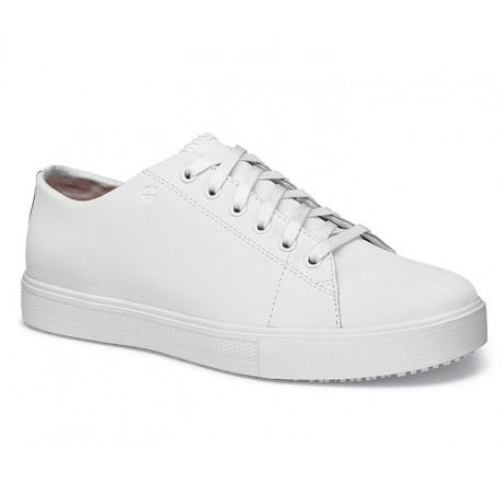 """33870 Shoes for Crews >Herren-Schnürschuhe """"Old School III"""" ohne Stahlkappe weiss Größe 39 - 47"""