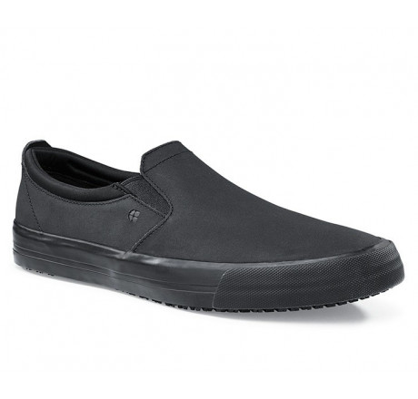 """34257 Shoes for Crews >Herren-Slipper """"Ollie II"""" ohne Stahlkappe schwarz Größe 38 - 47"""