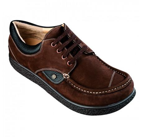 355 Jacoform Schuhe, Leder, braun Nubuk, Größe 4 - 12
