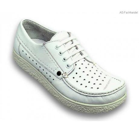 360 Jacoform Schuhe, Leder, weiß, perforiert, Größe 2,5 13