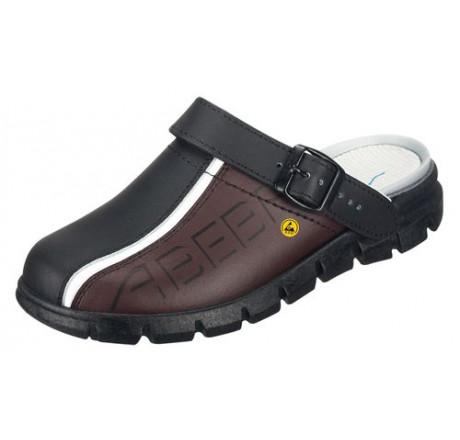 37315 ABEBA ESD Clog Berufsschuhe ohne Schutzkappe schwarz/braun Leder Größe 35 - 48