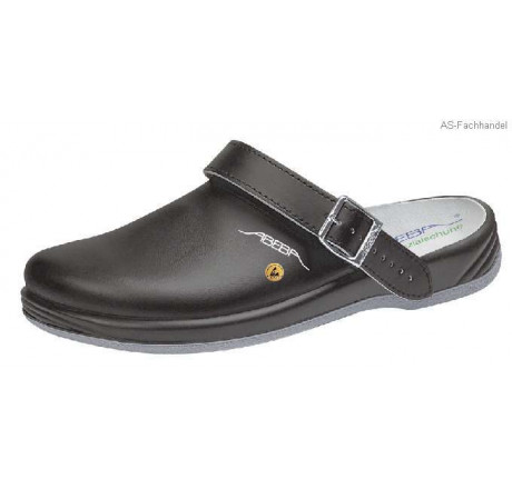 38210 ABEBA-ESD ARROW Clog Arbeitsschuhe schwarz Leder Größe 35 - 47