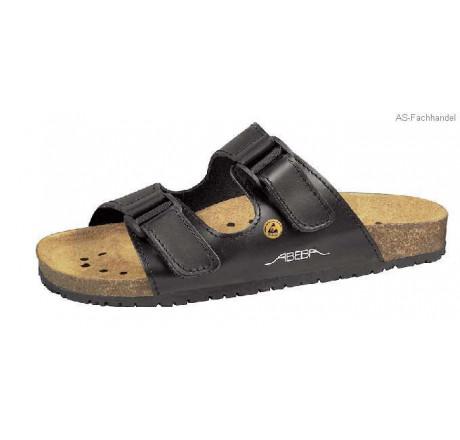 4085 ABEBA-ESD Nature Sandalen Berufsschuhe schwarz Glattleder Größe 34 - 48