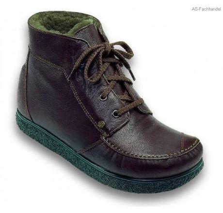 422 Jacoform Stiefel, Leder,braun, Lammfell gefüttert, Größe 2,5 - 13