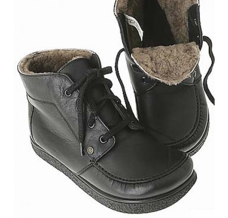 422 Jacoform Stiefel, Leder, schwarz, Lammfell gefüttert, Größe 2,5 - 13