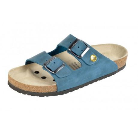 44111-3 WEEGER ESD Sandale Arbeitsschuhe ohne Stahlkappe blau Nubukleder Größe 35 - 49