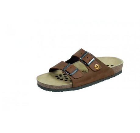 44111-4 WEEGER ESD Sandale Arbeitsschuhe ohne Stahlkappe braun Nubukleder Größe 35 - 49