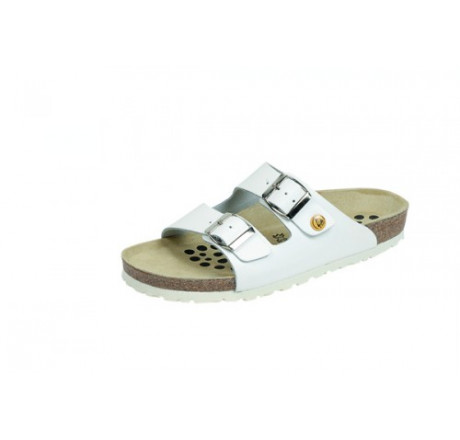 44111-2 WEEGER ESD Sandale Arbeitsschuhe ohne Stahlkappe weiss Leder Größe 35 - 49