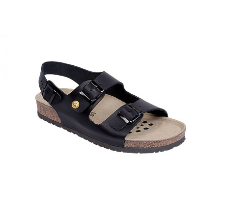 45115-1 WEEGER ESD Sandale Arbeitsschuhe ohne Stahlkappe schwarz Leder Größe 35 - 495