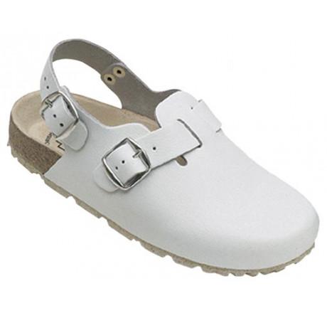 48612-2 WEEGER Clog Arbeitsschuhe ohne Stahlkappe weiß Leder Größe 35 - 49
