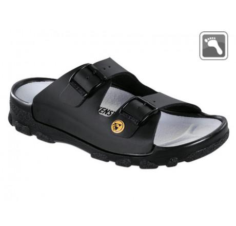 596040 BIRKENSTOCK ESD TOULON Sandale normale Weite schwarz Größe 36 - 46