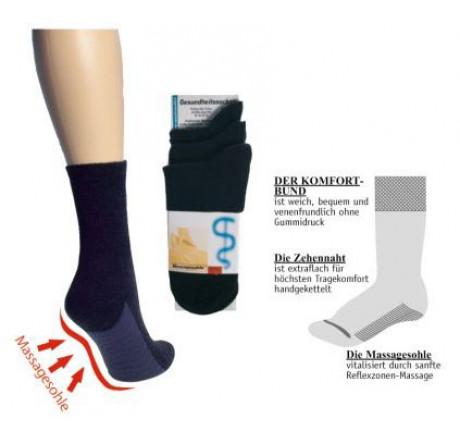 Wowerat, 6169 Massage-Wellness-Socken, Baumwolle, schwarz, Größe 35/38 - 39/42