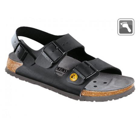 634790 Klein BIRKENSTOCK ESD MILANO Sandale normale Weite schwarz Größe 35 - 46