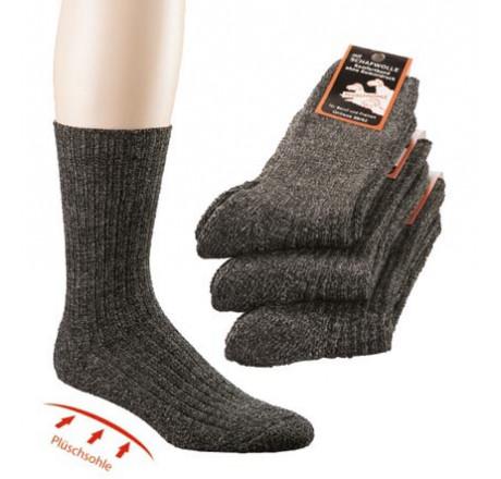 Wowerat, 6553 Plüschsohle-Socken mit Schafwolle, Größe 39/42 - 43/46