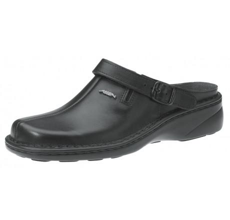 6913 ABEBA Reflexor Clog schwarz Leder Größe 36 - 42