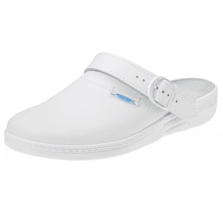 5013 ABEBA-Clog ohne Stahlkappe weiß, antistatisch, Leder, 01 Größe 35 - 47