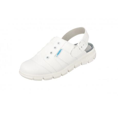 7360 ABEBA-Clog ohne Stahlkappe weiß Leder, Größe 35 - 48