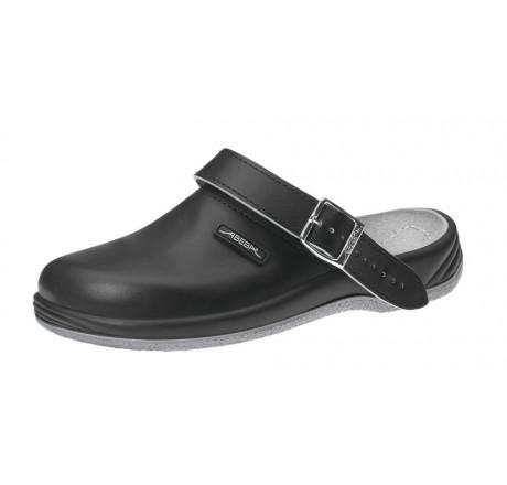 8210 ABEBA Arrow Küchenclogs Berufsschuhe ohne Stahlkappe schwarz Leder Größe 35 - 47
