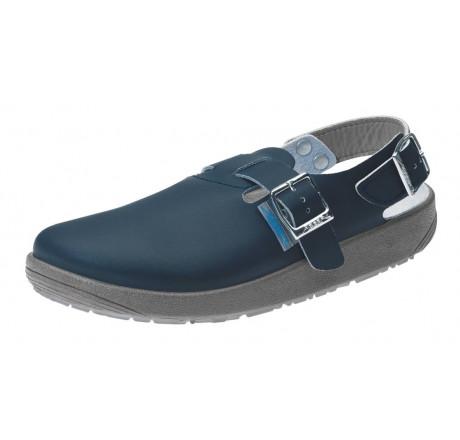 9150 ABEBA Sandale Clog Berufsschuhe ohne Stahlkappe blau Leder Größe 36 - 47