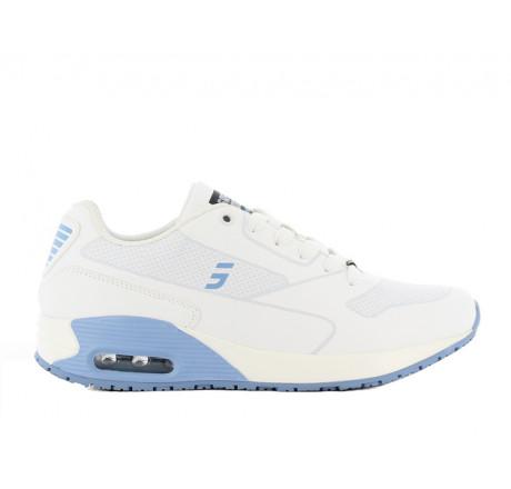 Ela LBL Safety-Jogger Plegeschuhe Arbeitsschuhe Berufsschuhe ohne Schutzkappe weiß-hellblau Größe 36-42
