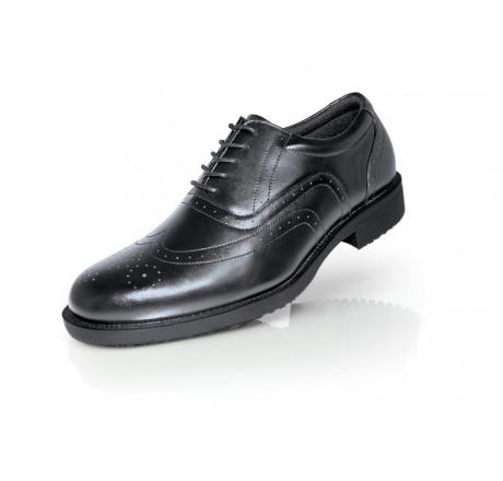 """S2030 Shoes for Crews Herren-Schnürschuhe """"Executive Wing-Tip III"""", ohne Schutzkappe, schwarz, 01 Größe 38-47"""