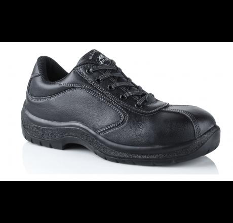 N209 Work & Leisure Schnürschuh ohne Schutzkappe schwarz, 02 Größe 35 - 47