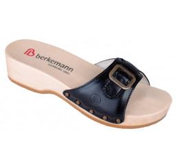 0110-901 Berkemann Hamburg Holz Sandale Kalbsleder schwarz Größe 2,5 - 8,5