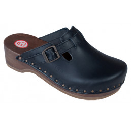 0402-900 BERKEMANN Riemen-Toeffler Holz Sandale schwarz Größe 2,5 - 12
