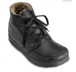1242-1 Jacoform Stiefel trekline schwarz Lammfell Größe 2,5 - 11,5