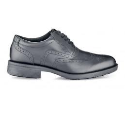 Shoes for Crews 20301 Herren Schnürschuhe Executive Wing-Tip IV ohne Schutzkappe schwarz 01 Größe 38-47