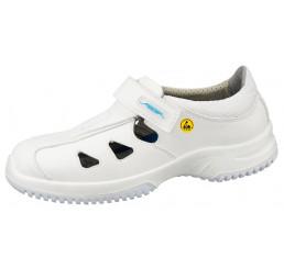 """36795 ABEBA ESD Sandale Arbeitsschuhe """"Uni6"""" ohne Schutzkappe weiß A-micro® Mikrofaser Größe  35 - 48"""