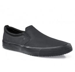 """34257 Shoes for Crews >Herren-Slipper """"Ollie II"""" ohne Schutzkappe schwarz  Größe 38 - 47"""