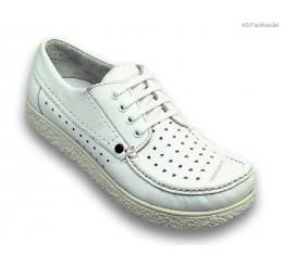 360 Jacoform Schuhe, Leder, weiß, perforiert, Größe 2,5 - 13