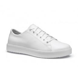 """38960 Shoes for Crews Herren-Schnürschuhe """"Old School IV"""" ohne Schutzkappe weiss  Größe 39 - 47"""