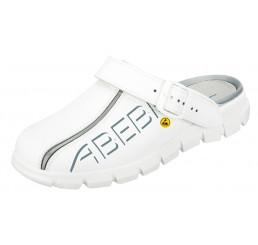 37310 ABEBA ESD Clog Berufsschuhe ohne Schutzkappe weiß Leder Größe 35 - 48