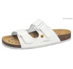 4080 ABEBA-ESD Nature-Sandalen Berufsschuhe weiß Leder  Größe 34 - 48