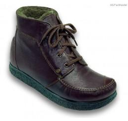 422-1 Jacoform Stiefel, Leder,braun, Lammfell gefüttert, Größe 2,5 - 13