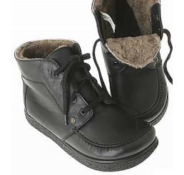 422-2 Jacoform Stiefel, Leder, schwarz, Lammfell gefüttert, Größe 2,5 - 13