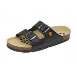 44111-1 WEEGER ESD Sandale Arbeitsschuhe schwarz Leder Größe 35 - 49