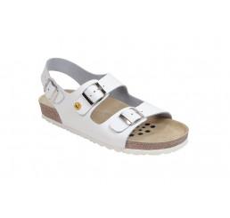 45115-2 WEEGER ESD Sandale Arbeitsschuhe weiss Leder Größe 35 - 49